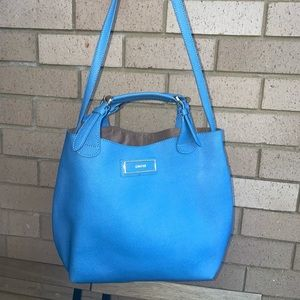 Dkny saffiano leather baby blue hobo shoulder tote bag